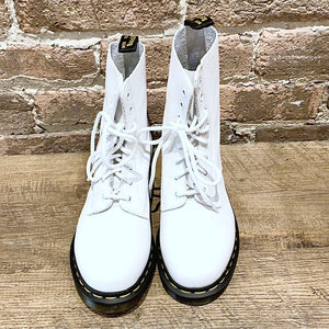 Dr. Martens 1460 Pascal Optical White Lace-up Boot