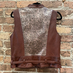 Gearhead Leather Vest - When Words Fail