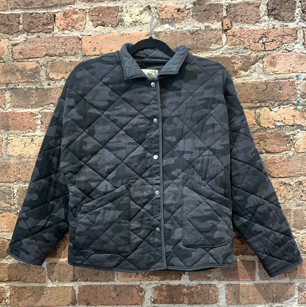 Z Supply Maya Quilted Camo Jacket