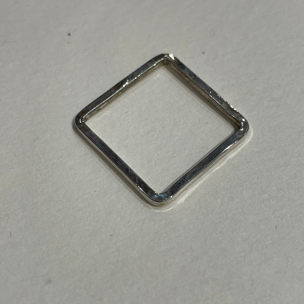 Lacey Fema Jewelry Square Sterling Silver Ring