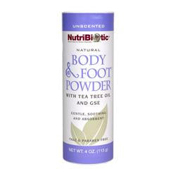 NutriBiotic Body and Foot Powder 4 oz.