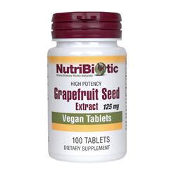 NutriBiotic Grapefruit Seed Extract-tablets, 125 mg. 100 Tabs