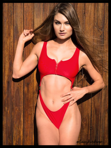 Red Cut-out Monikini