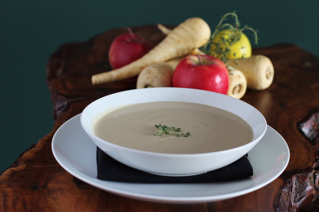 Roasted Parsnip and Niagara Apple Soup - Cacio Pepe Meals