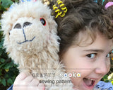 Llama alpaca plushie  - Soft toy sewing pattern - instant download pdf