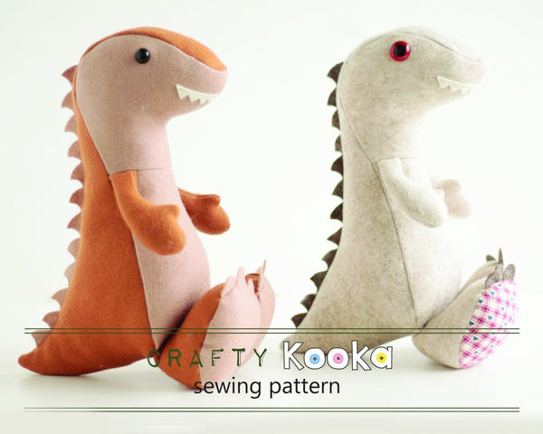 Dinosaur sewing pattern - instant download pdf