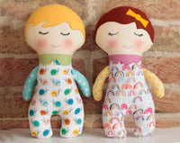 Baby Dolly  - Soft toy sewing pattern - instant download pdf