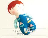 boy doll toy sewing pattern