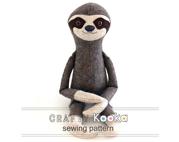Sloth sewing pattern - instant download pdf
