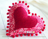 heart sewing pattern