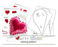 sewing pattern heart