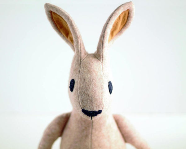 Irish Hare plush / Bunny Rabbit sewing pattern - instant download pdf