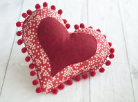 heart pincushion sewing pattern