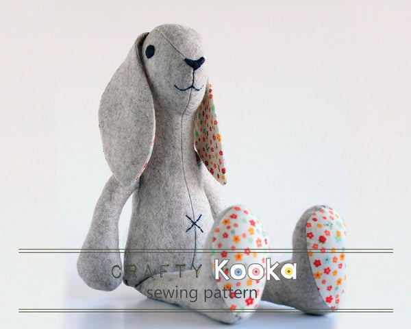 Rabbit sewing pattern - instant download pdf