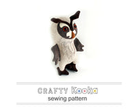 owl sewing pattern plushie