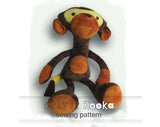 Plush Monkey sewing pattern - instant download pdf