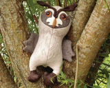 Long-Eared Owl  - Soft toy sewing pattern - instant download pdf