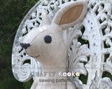 rabbit toy sewing pattern
