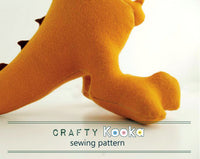 T-Rex sewing pattern - instant download pdf