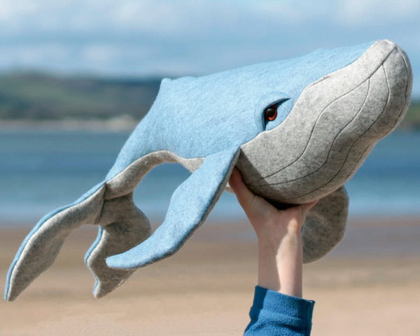Humpback Whale plush sewing pattern - instant download pdf