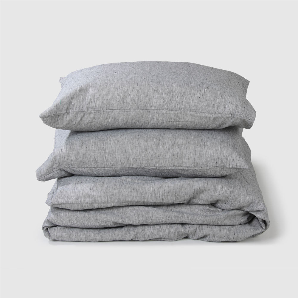 Cotton Linen Duvet Cover Set