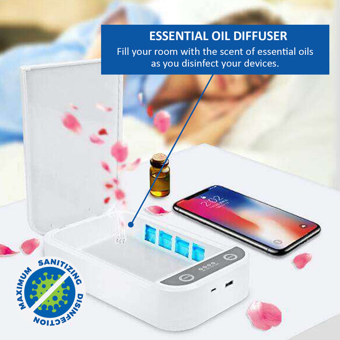 XL  UV Sanitizer Box + USB Charging Port