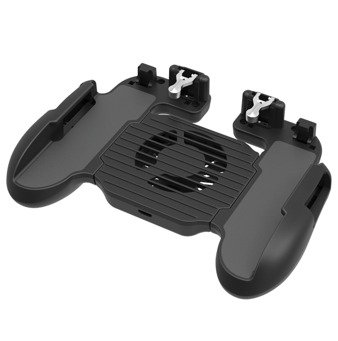 BATTLE GRIP PRO MOBILE DEVICE GAMING CONTROLLER WITH INTEGRATED TRIGGERS & COOLING FAN