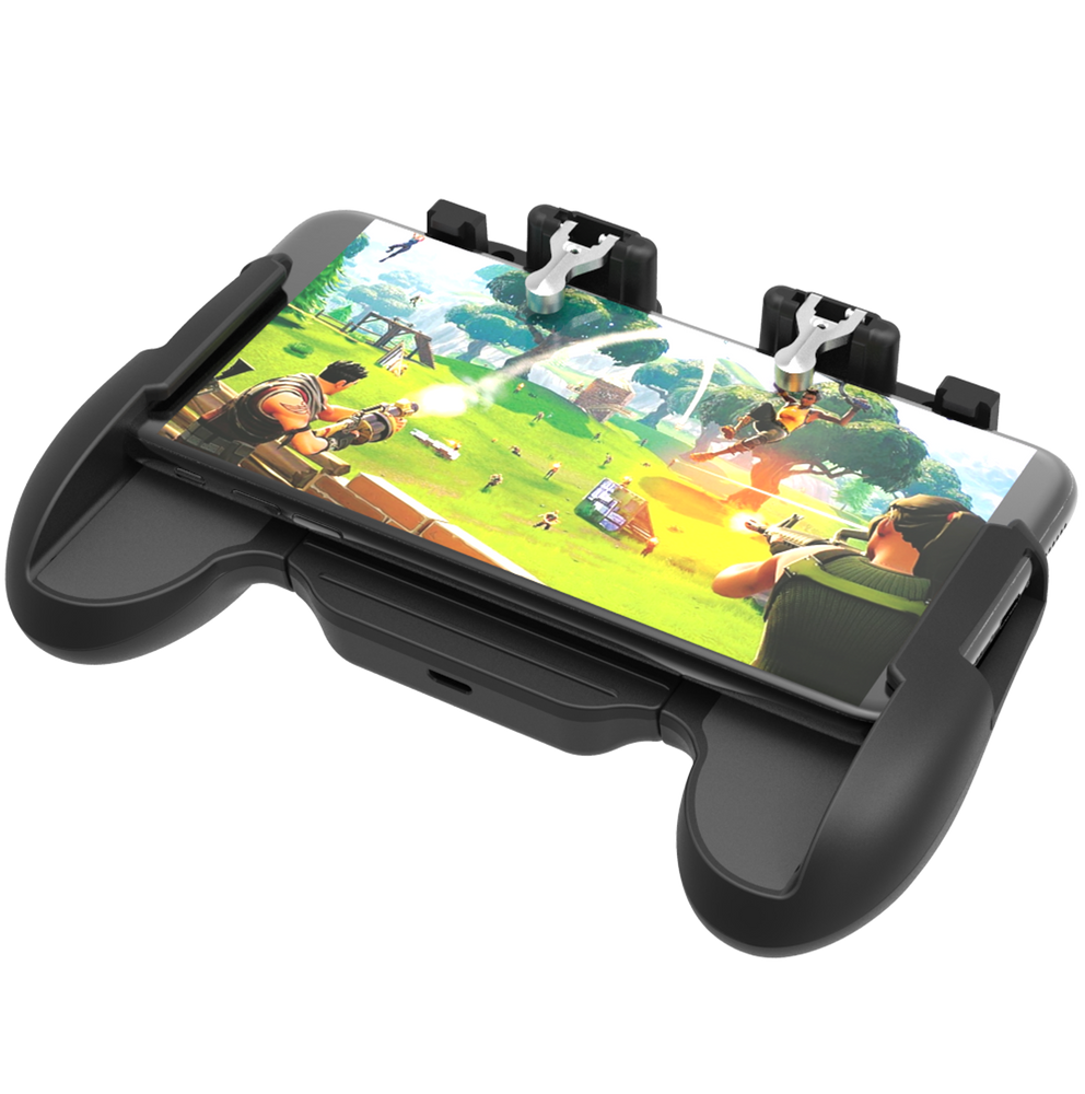 BATTLE GRIP MOBILE DEVICE GAMING CONTROLLER WITH INTEGRATED TRIGGERS