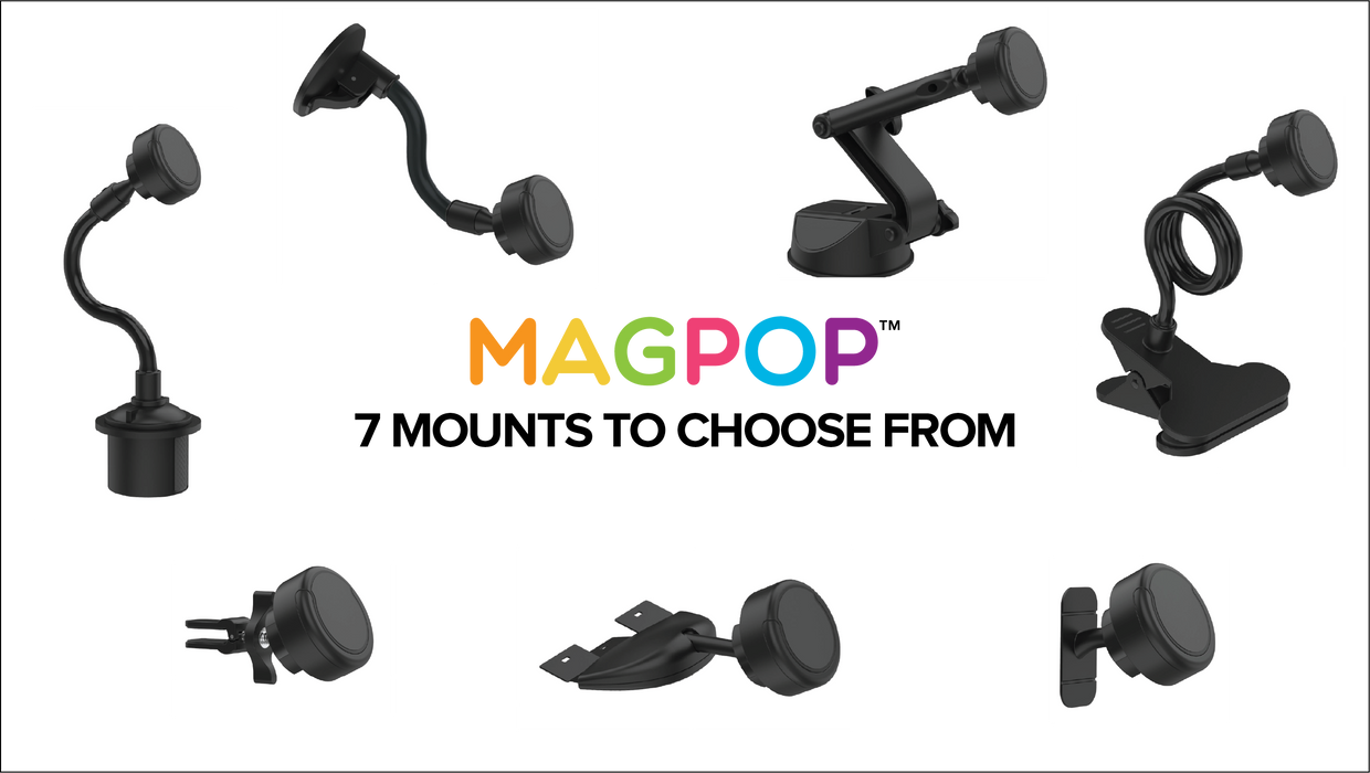 MAGPOP! Magnetic & Pop Out Grip Mount
