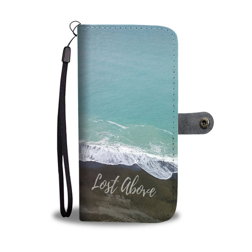 Black and Blue Wallet phone Case - Lost Above