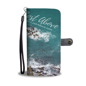 Blue Water and Rocks Wallet Phone Case - Lost Above