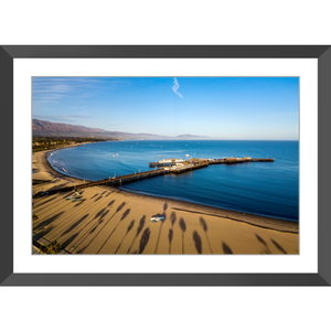 Palm Trees and Wharf Framed Print