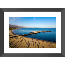 Palm Trees and Wharf Framed Print - Lost Above