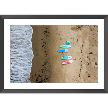 Paddle Boards on the Beach Framed Prints - Lost Above