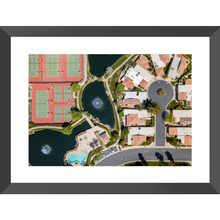 Palm Spring Suburbs Framed Prints