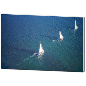 Three Sail Boats