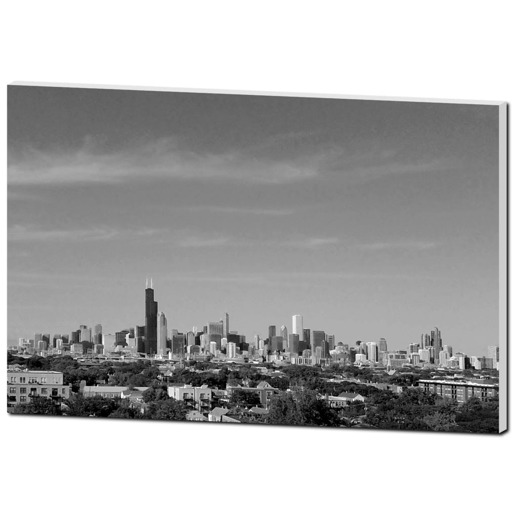 Chicago Skyline Black and White - Lost Above