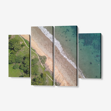 "Butterfly Beach 4 Piece Canvas Wall Art Ready to Hang 4x12""x32"