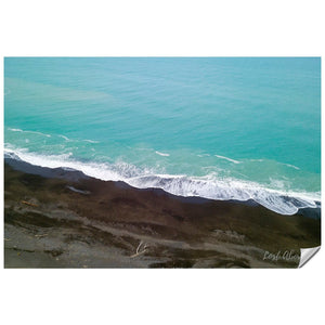 Black Sand Beach and Blue Water - Lost Above