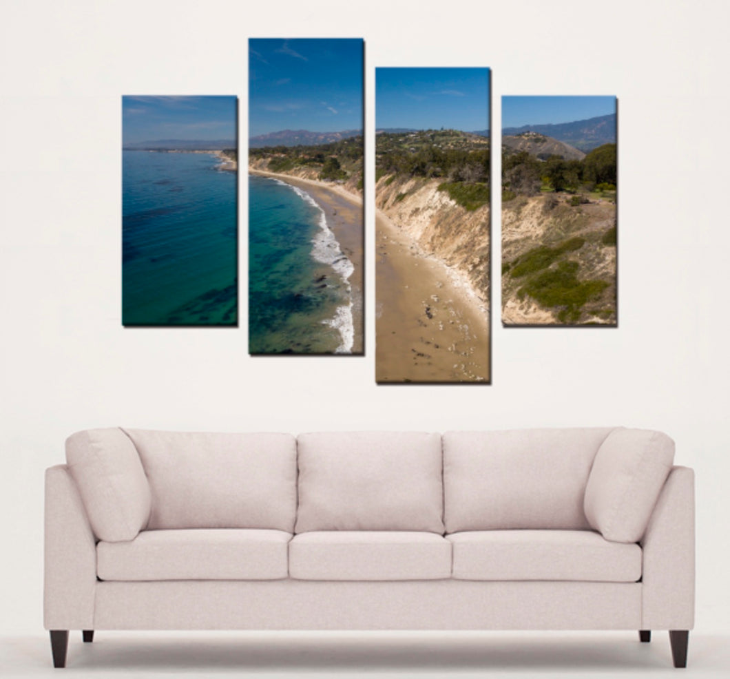 Hendrys Beach 4 Panels Canvas Prints Wall Art - Lost Above