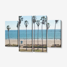 "East Beach 4 Piece Canvas Wall Art! Framed Ready to Hang 4x12""x32"