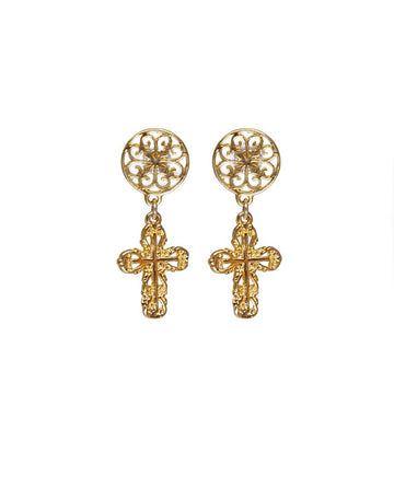 Christian Cross Earrings