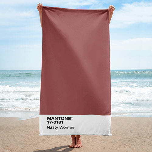 Nasty Woman - Beach Towel