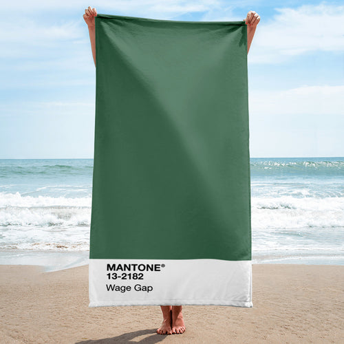 Wage Gap - Beach Towel