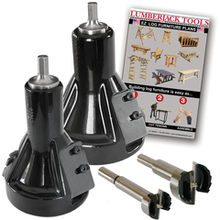 "Lumberjack Tools Commercial Series Tenon Cutter Starter Kit 1"" & 2"""