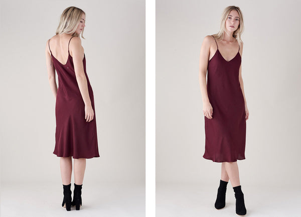 Paige Cicely Dress in Dark Currant