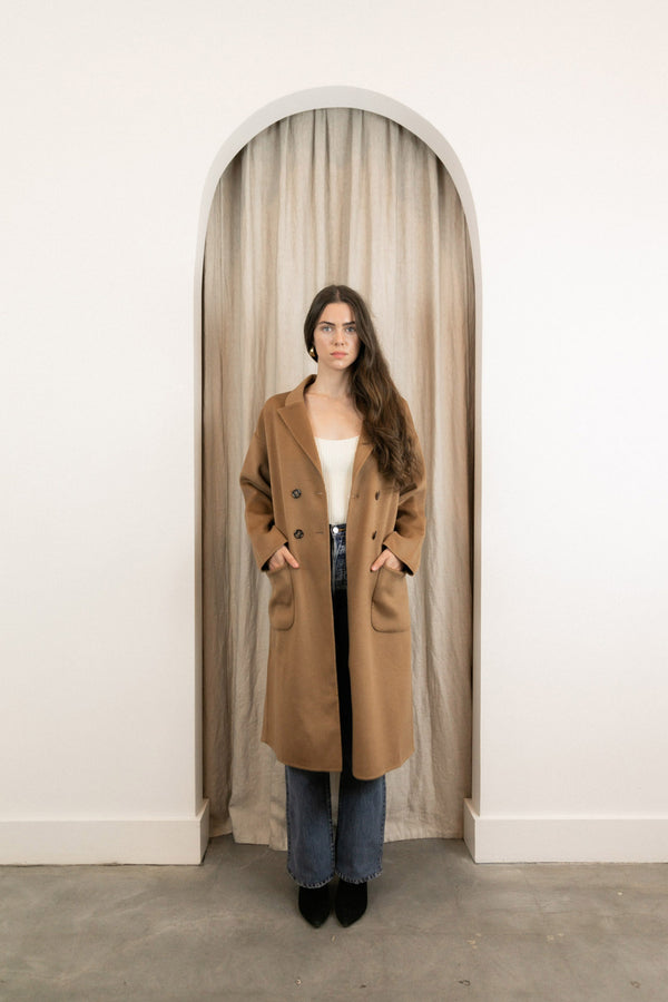 ANINE BING DYLAN COAT IN CAMEL