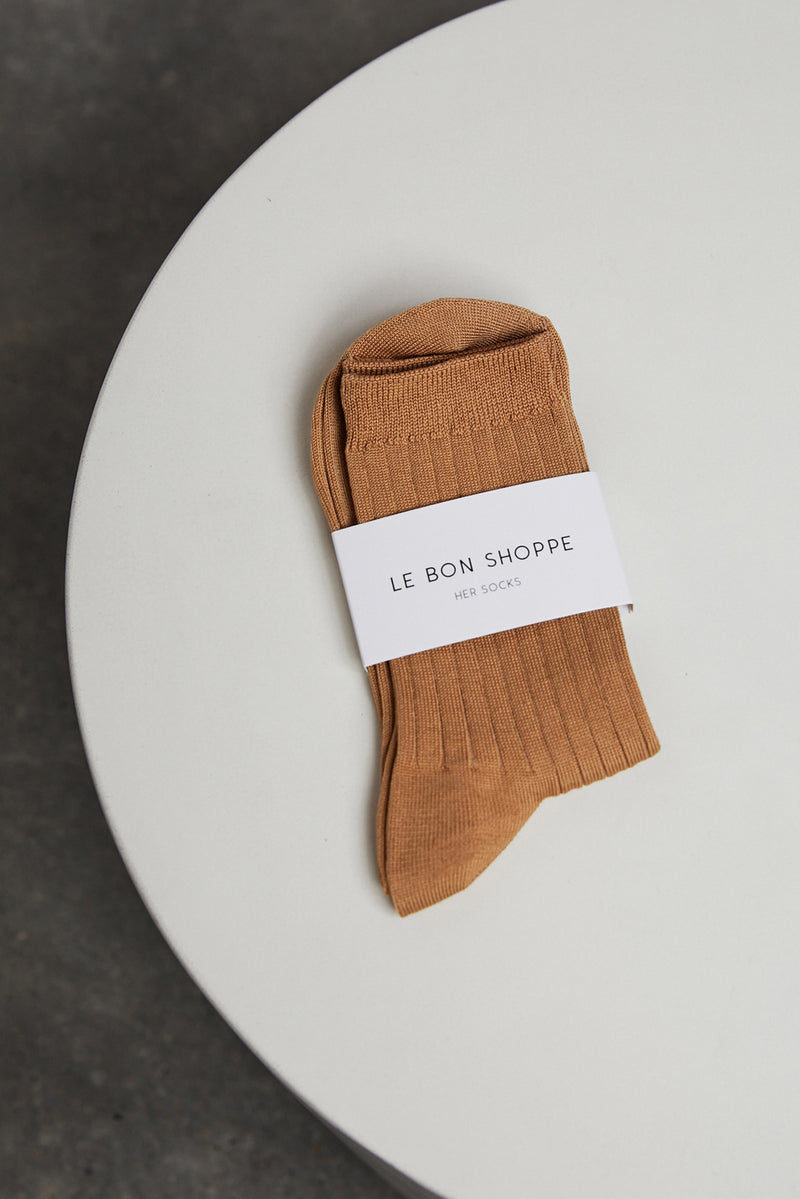 LE BON SHOPPE HER SOCKS IN PEANUT BUTTER