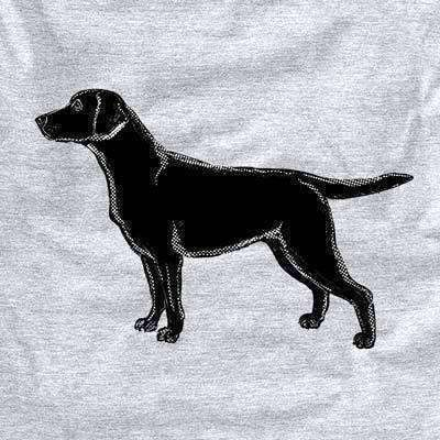 Halftone Black Lab