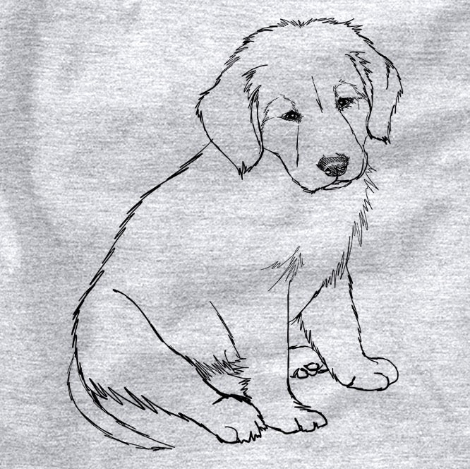 Doodled Jake-aroni the Golden Retriever Puppy